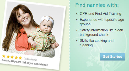 Find nannies w/ CPR / First Aid Training